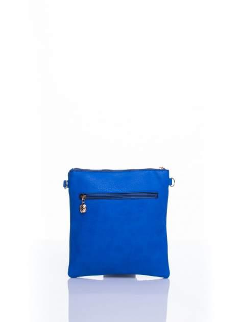 Niebieska listonoszka z odpinanym paskiem                                  zdj.                                  3