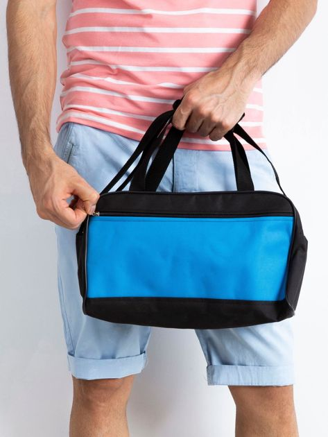 Niebieska męska torba na ramię                              zdj.                              1