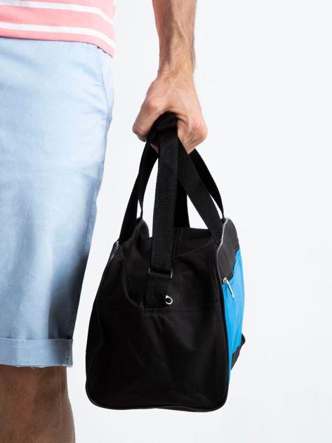 Niebieska męska torba na ramię                              zdj.                              3