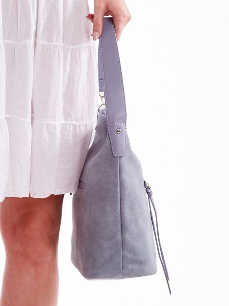 Niebieska miejska torba z kieszeniami                              zdj.                              4