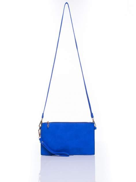 Niebieska prosta przewieszana torebka z uchwytem                                  zdj.                                  4