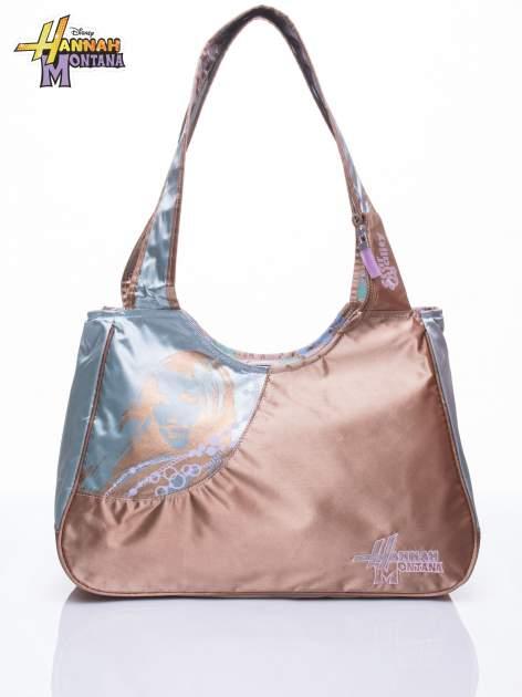Niebieska satynowa torba szkolna DISNEY Hannah Montana                                  zdj.                                  1