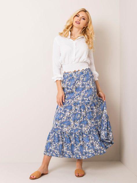 Niebieska spódnica Paisley RUE PARIS