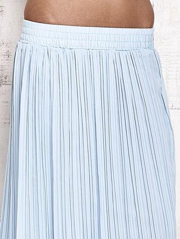 Niebieska spódnica maxi w plisy                                  zdj.                                  4