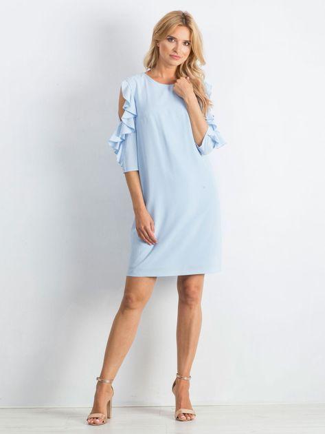 Niebieska sukienka Brilliance                              zdj.                              4