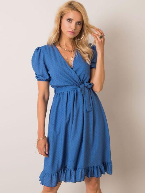 Niebieska sukienka Colette RUE PARIS