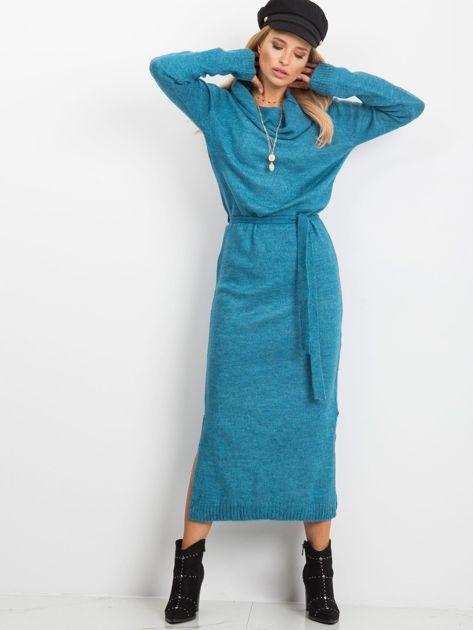 Niebieska sukienka Peace                              zdj.                              1