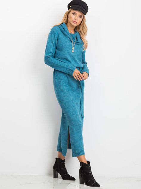 Niebieska sukienka Peace                              zdj.                              3