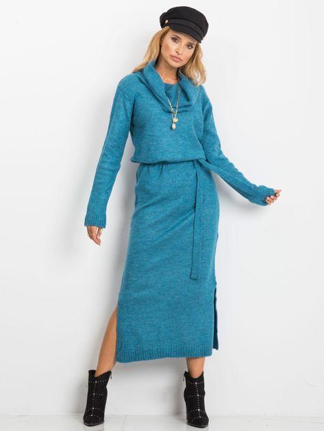 Niebieska sukienka Peace                              zdj.                              4