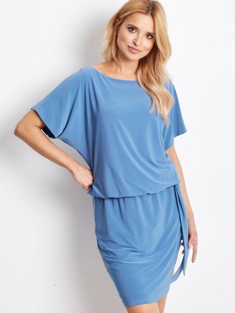 Niebieska sukienka Peak                              zdj.                              1