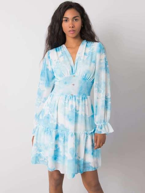 Niebieska sukienka Whitney OCH BELLA