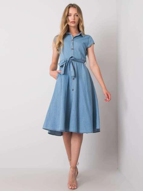 Niebieska sukienka bawełniana Polly RUE PARIS