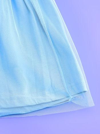 Niebieska sukienka dla dziewczynki z brokatowym paskiem FROZEN                                  zdj.                                  5