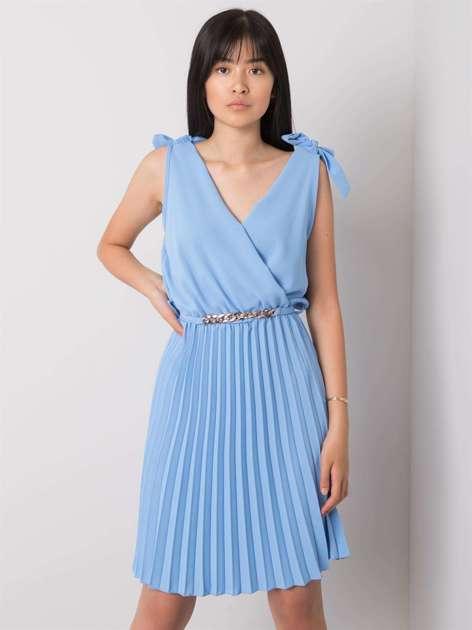 Niebieska sukienka na co dzień Brittany