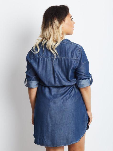 Niebieska sukienka plus size Confidence                              zdj.                              2
