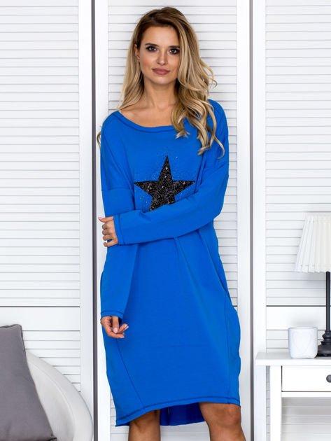Niebieska sukienka z gwiazdą                               zdj.                              1