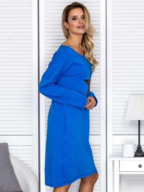 Niebieska sukienka z gwiazdą                               zdj.                              3