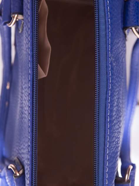 Niebieska torba bowling ze złotymi dżetami                                  zdj.                                  5