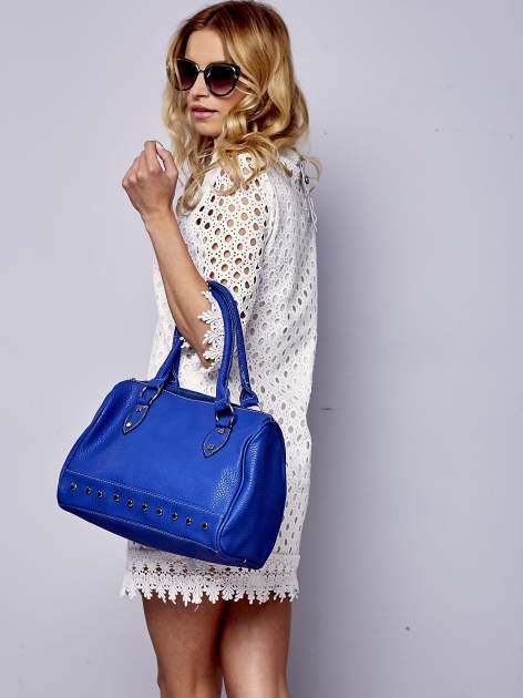 Niebieska torba bowling ze złotymi dżetami                                  zdj.                                  1