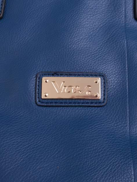 Niebieska torba damska do ręki                                  zdj.                                  5