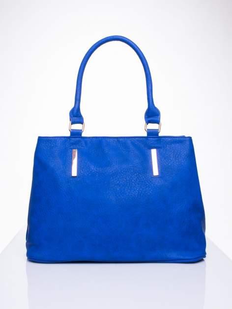 Niebieska torba miejska na ramię                                  zdj.                                  2