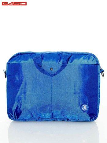 Niebieska torba na laptopa
