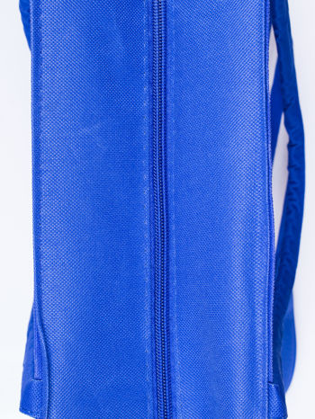 Niebieska torba plażowa w paski                                  zdj.                                  3