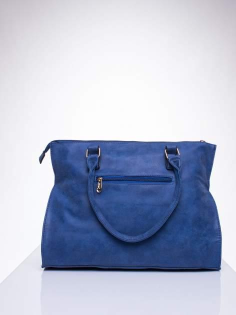 Niebieska torba shopper bag ze złotymi ćwiekami                                  zdj.                                  3