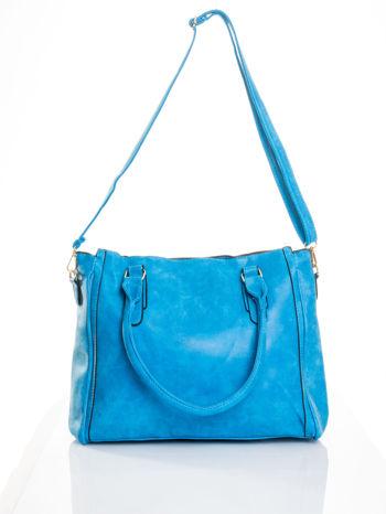 Niebieska torebka miejska                                  zdj.                                  5