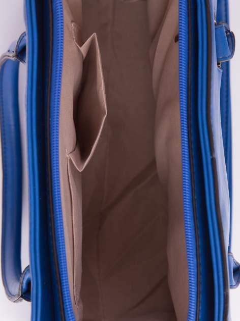 Niebieska torebka teczka z klapką                                  zdj.                                  5