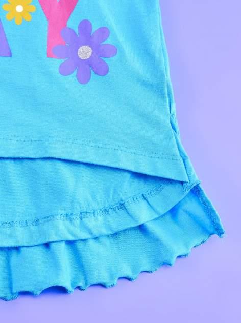 Niebieska tunika dla dziewczynki z falbankami HELLO KITTY                                   zdj.                                  4