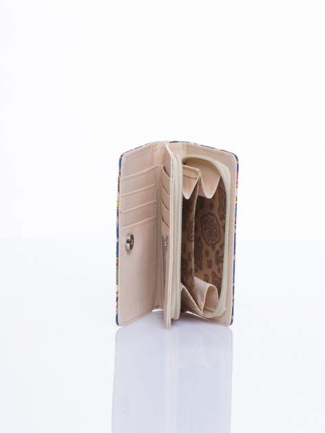 Niebieski mini portfel w sówki                                  zdj.                                  3