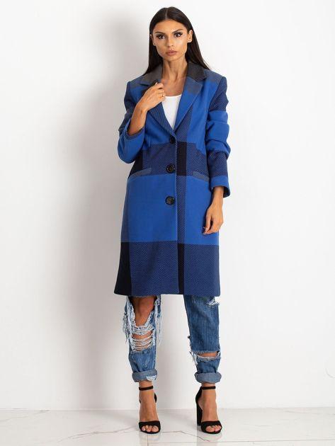 Niebieski płaszcz Geometric                              zdj.                              4