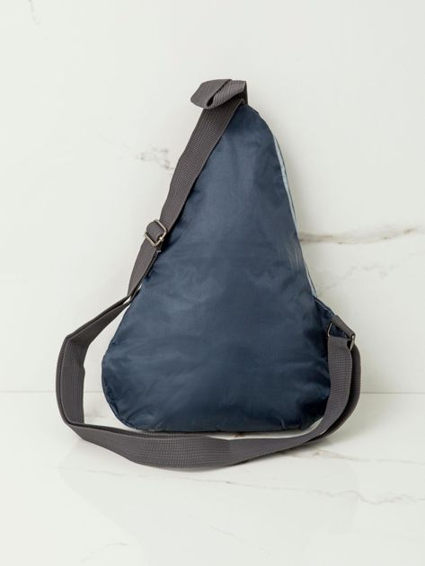 Niebieski plecak męski na jedno ramię                              zdj.                              3