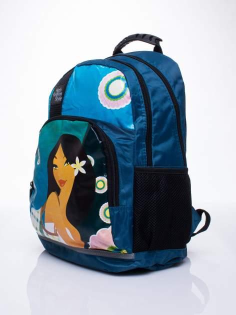 Niebieski plecak szkolny DISNEY Mulan                                  zdj.                                  2