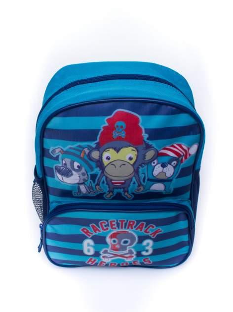 Niebieski plecak szkolny DISNEY w paski                                  zdj.                                  5