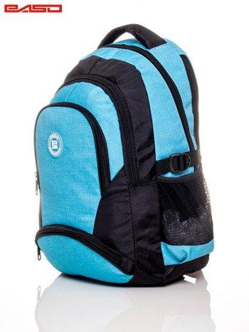 Niebieski plecak szkolny z naszywką                              zdj.                              3
