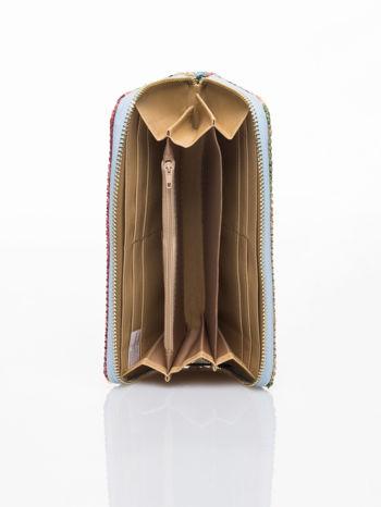 Niebieski pleciony portfel w paski                                  zdj.                                  4