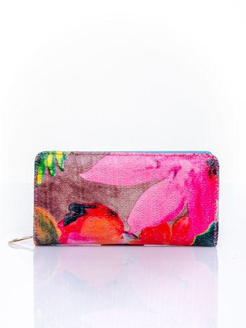Niebieski portfel z egzotycznym nadrukiem                                  zdj.                                  1