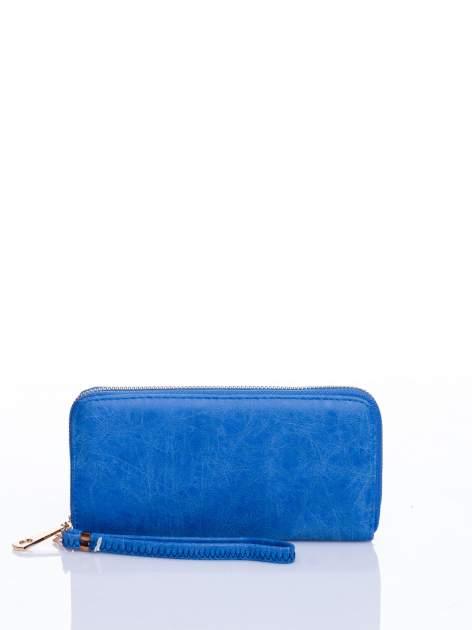 Niebieski portfel z rączką