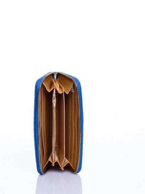 Niebieski portfel z rączką                                  zdj.                                  3
