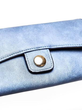 Niebieski portfel z zapięciem na magnes                                  zdj.                                  6