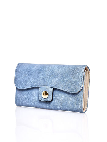 Niebieski portfel z zapięciem na magnes                                  zdj.                                  3