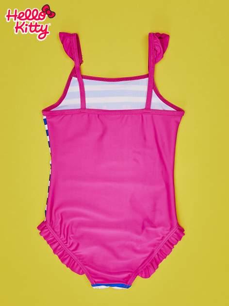 Niebieski strój kąpielowy w paski dla dziewczynki HELLO KITTY                                  zdj.                                  2
