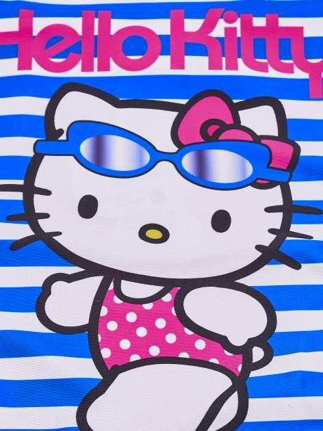 Niebieski strój kąpielowy w paski dla dziewczynki HELLO KITTY                                  zdj.                                  5