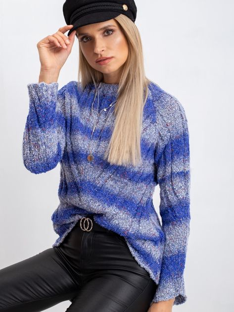 Niebieski sweter Madison                              zdj.                              1