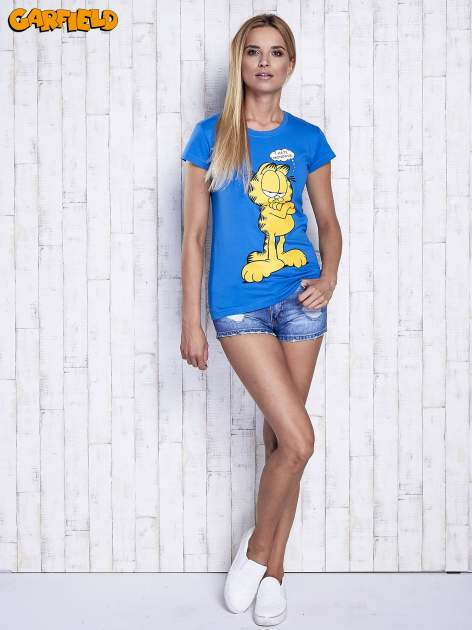 Niebieski t-shirt GARFIELD                                  zdj.                                  2