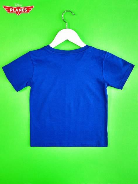 Niebieski t-shirt chłopięcy SAMOLOTY                                  zdj.                                  2