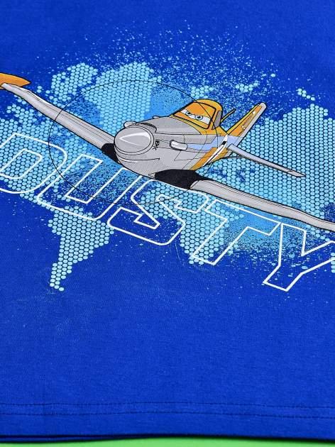 Niebieski t-shirt chłopięcy SAMOLOTY                                  zdj.                                  4