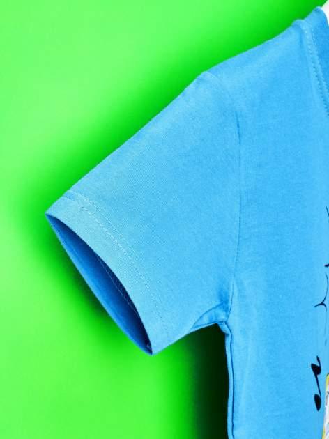 Niebieski t-shirt chłopięcy SMERFY                                  zdj.                                  6